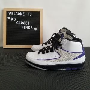 Jordan Retro 2 White Concord Black